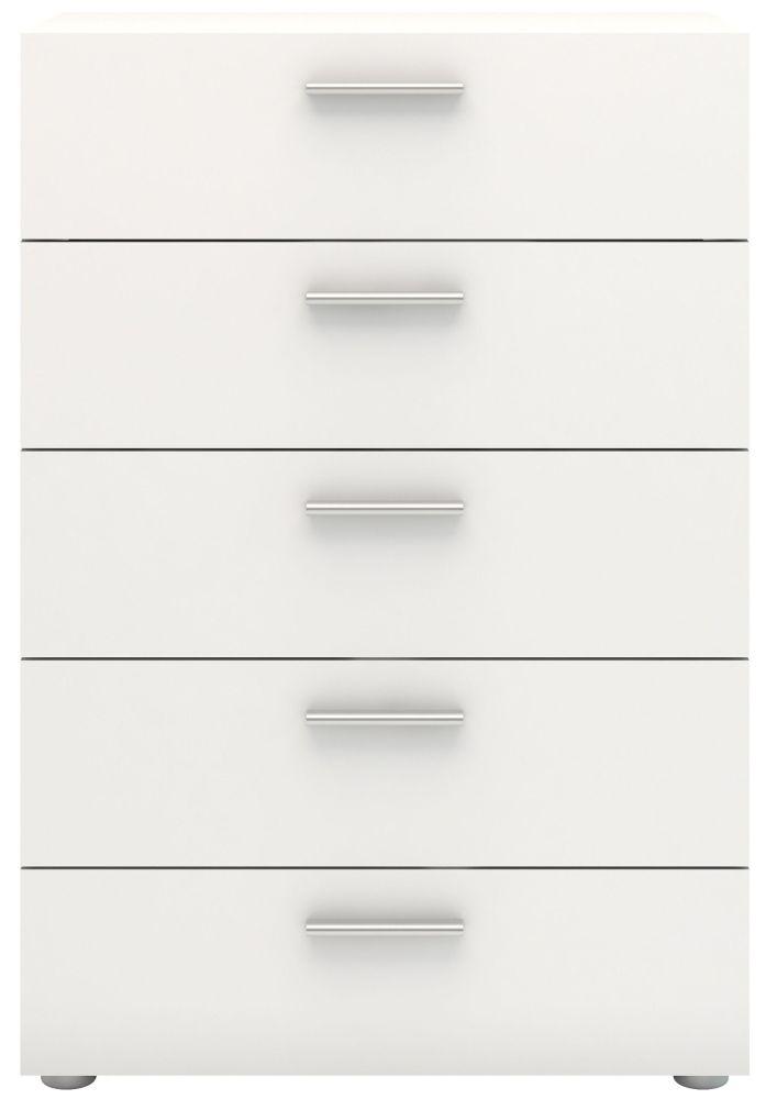 Pepe 5 Drawer Chest - White