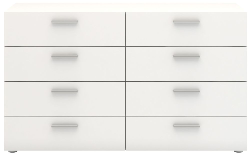 Pepe 8 Drawer Wide Chest - White