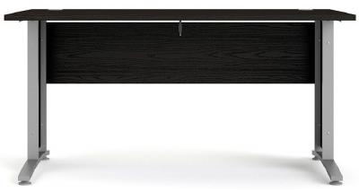 Prima Black 150cm Desk with Silver Legs