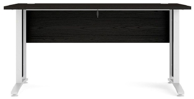 Prima Black 150cm Desk with White Legs