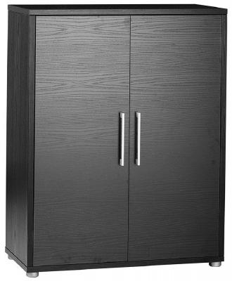 Prima Black 2 Door Bookcase