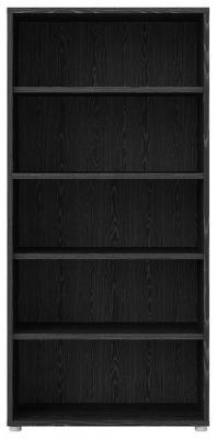 Prima Black 4 Shelves Open Bookcase