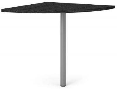 Prima Black Corner Desk with Silver Leg