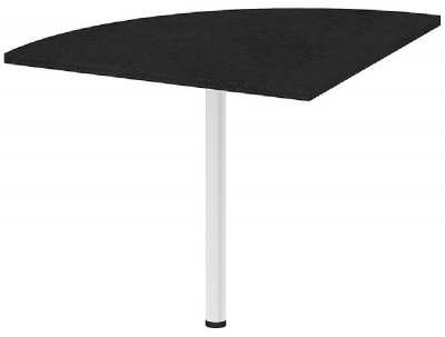 Prima Black Corner Desk with White Leg