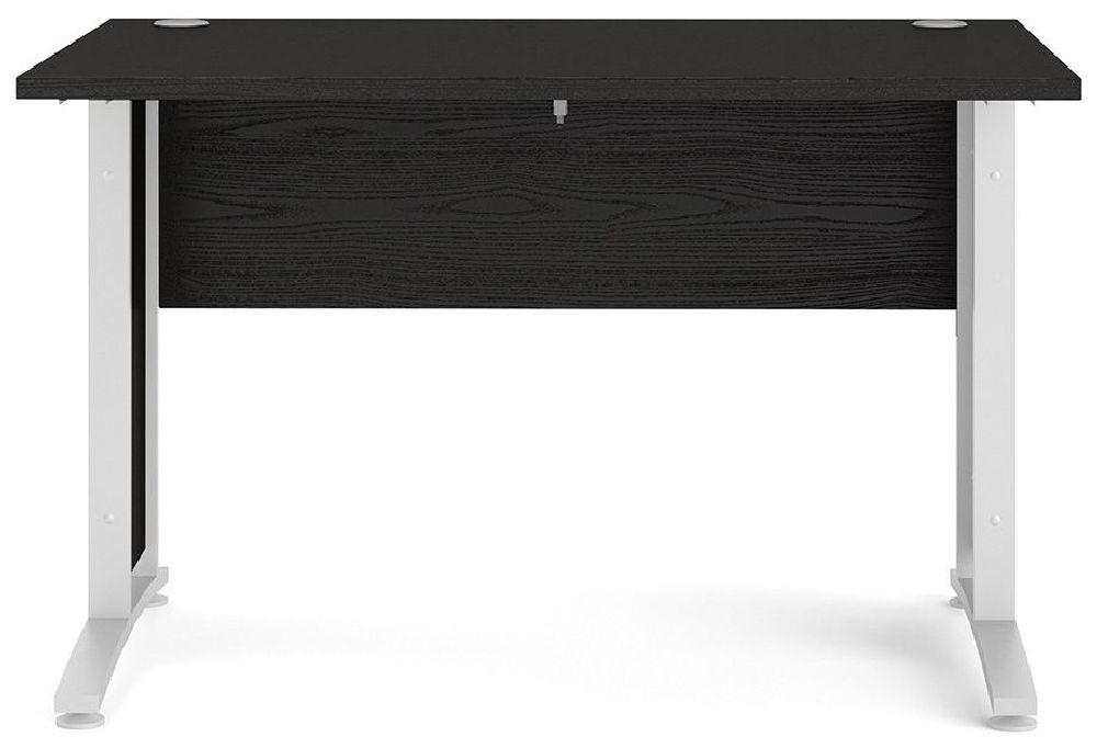 Prima Black 120cm Desk with White Legs