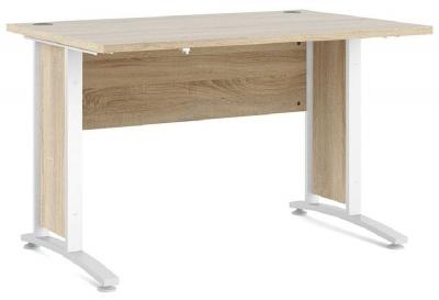 Prima Oak 120cm Desk with White Legs