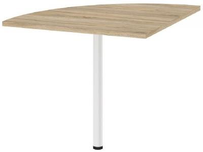 Prima Oak Corner Desk with White Leg