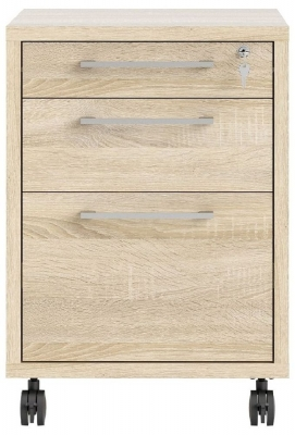 Prima Oak Mobile File Cabinet