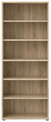 Prima Oak 5 Shelves Open Bookcase