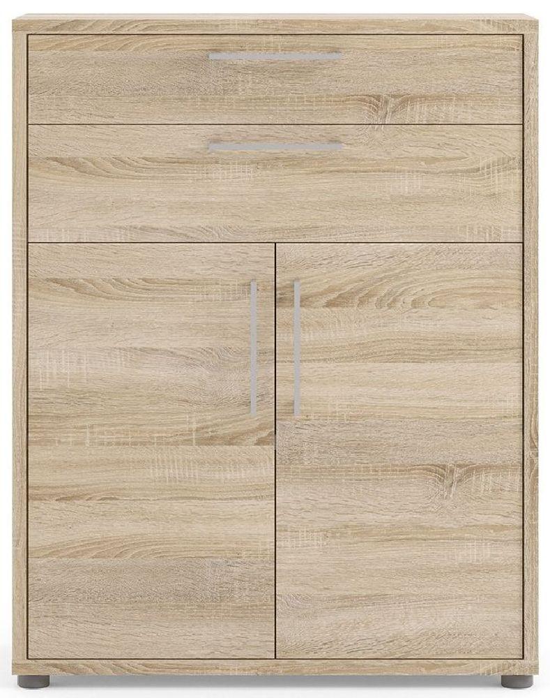 Prima Oak 2 Door 2 Drawer Bookcase