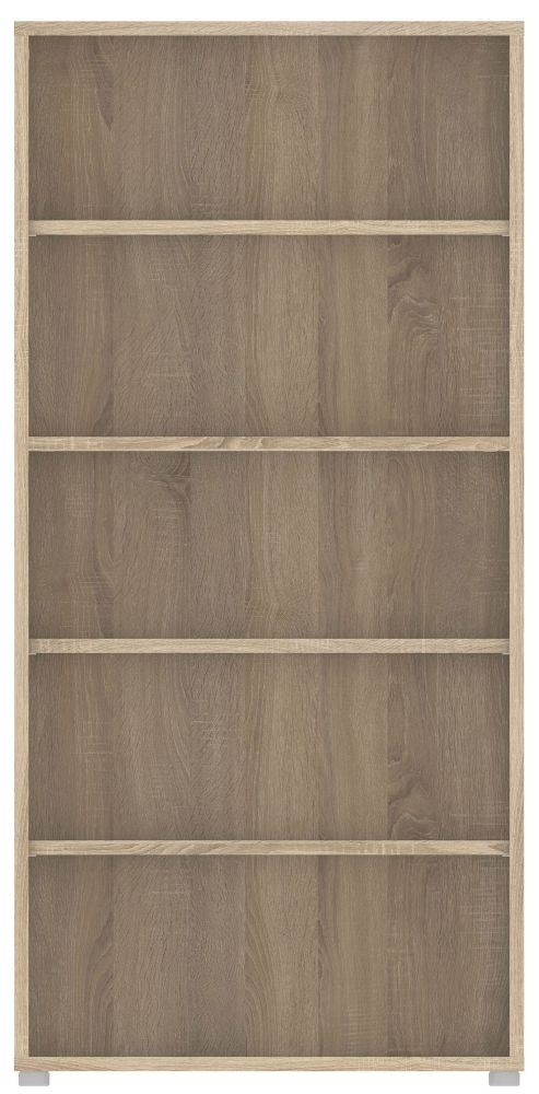Prima Oak 4 Shelves Open Bookcase