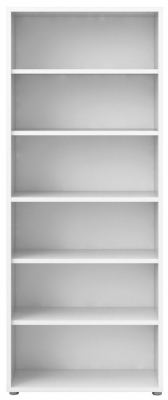 Prima White 5 Shelves Open Bookcase