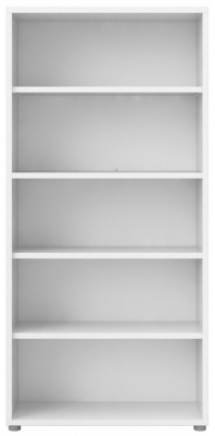Prima White 4 Shelves Open Bookcase
