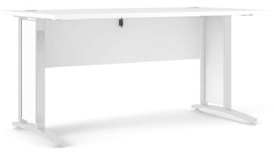 Prima White 150cm Desk
