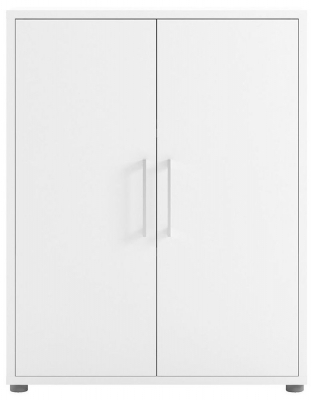 Prima White 2 Door Bookcase