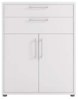 Prima White 2 Door 2 Drawer Bookcase