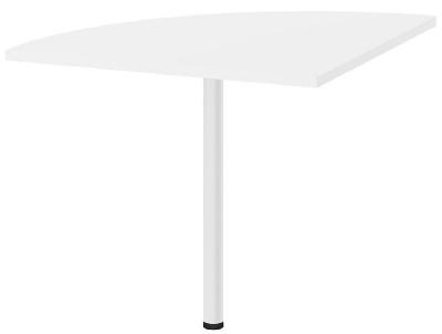 Prima White Corner Desk