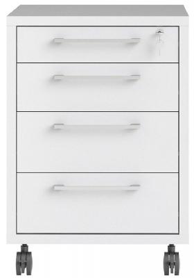 Prima White Mobile Cabinet