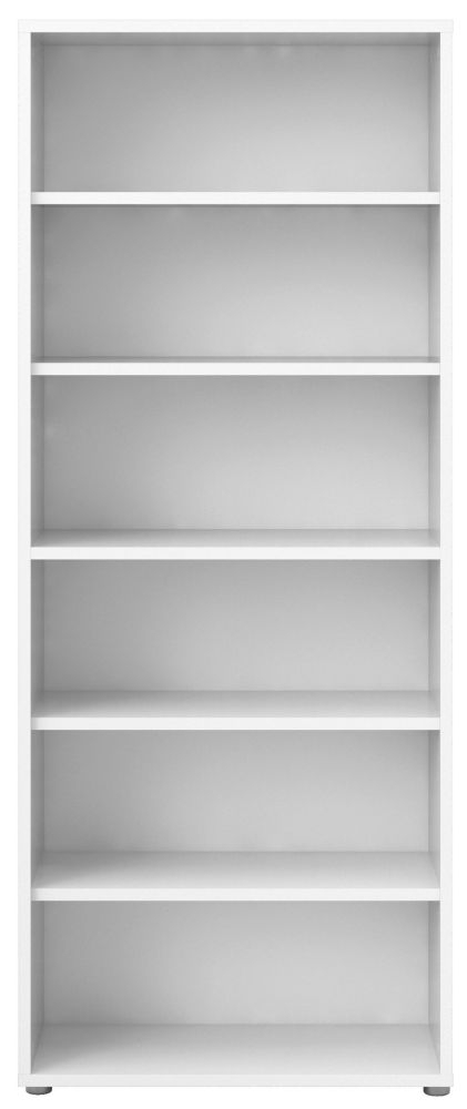 Prima White 5 Shelves Open Bookcase