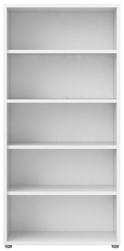 Prima White 4 Shelves Open Bookcase
