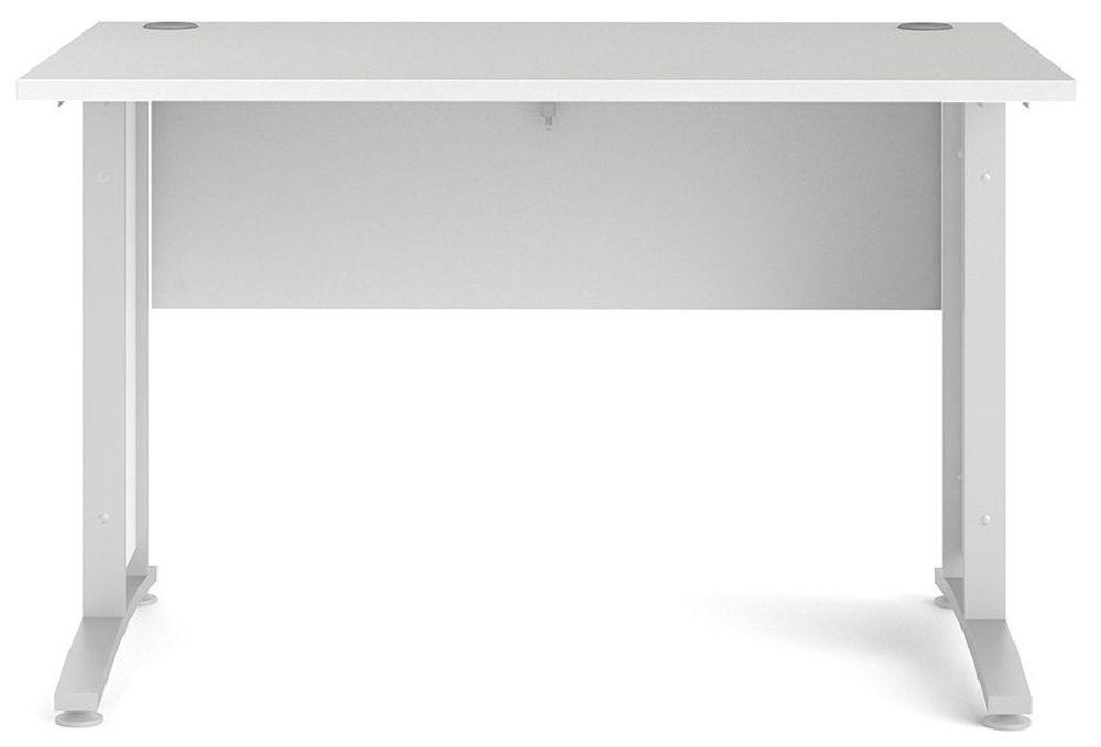 Prima White 120cm Desk
