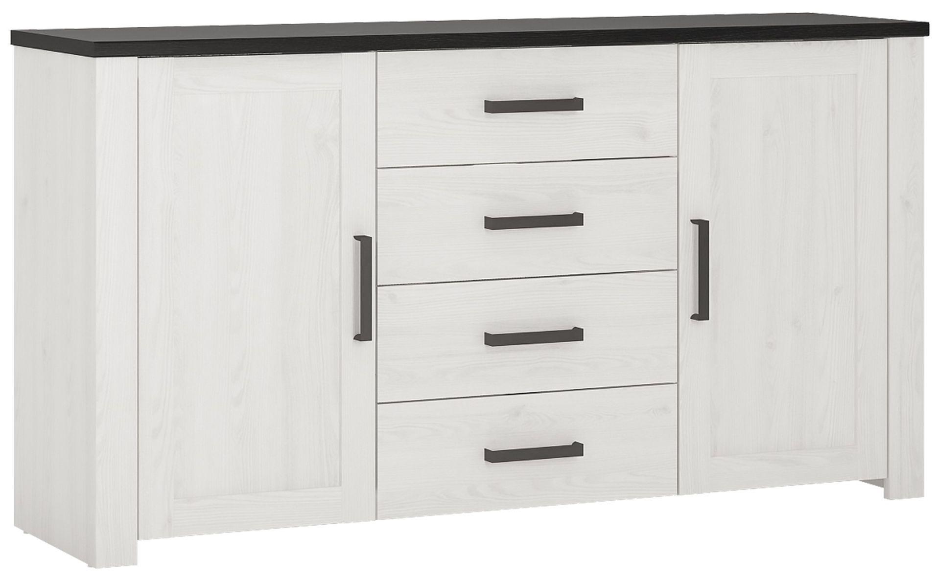Provence Whitewash Larch Sideboard - 2 Door 4 Drawer