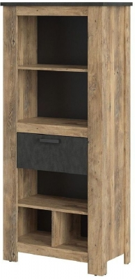 Rapallo Chestnut and Matera Grey Bookcase