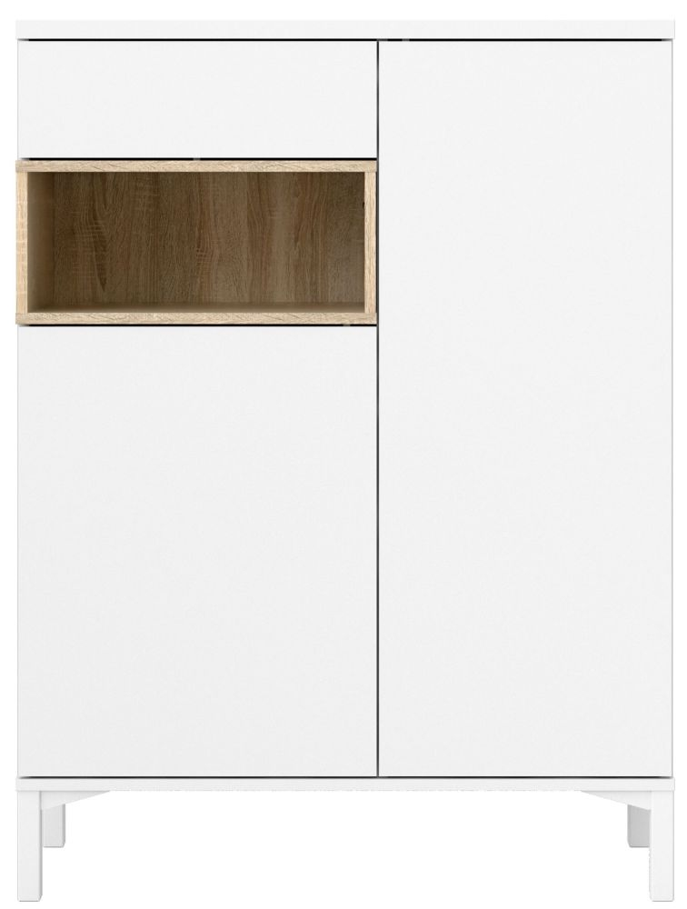 Roomers Sideboard - White and Oak