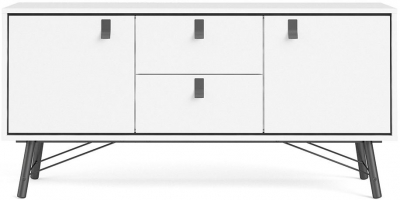 Ry Matt White 2 Door Sideboard