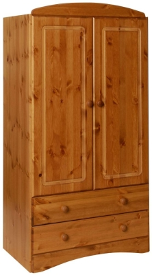 Scandi Solid Pine 2 Door Wardrobe