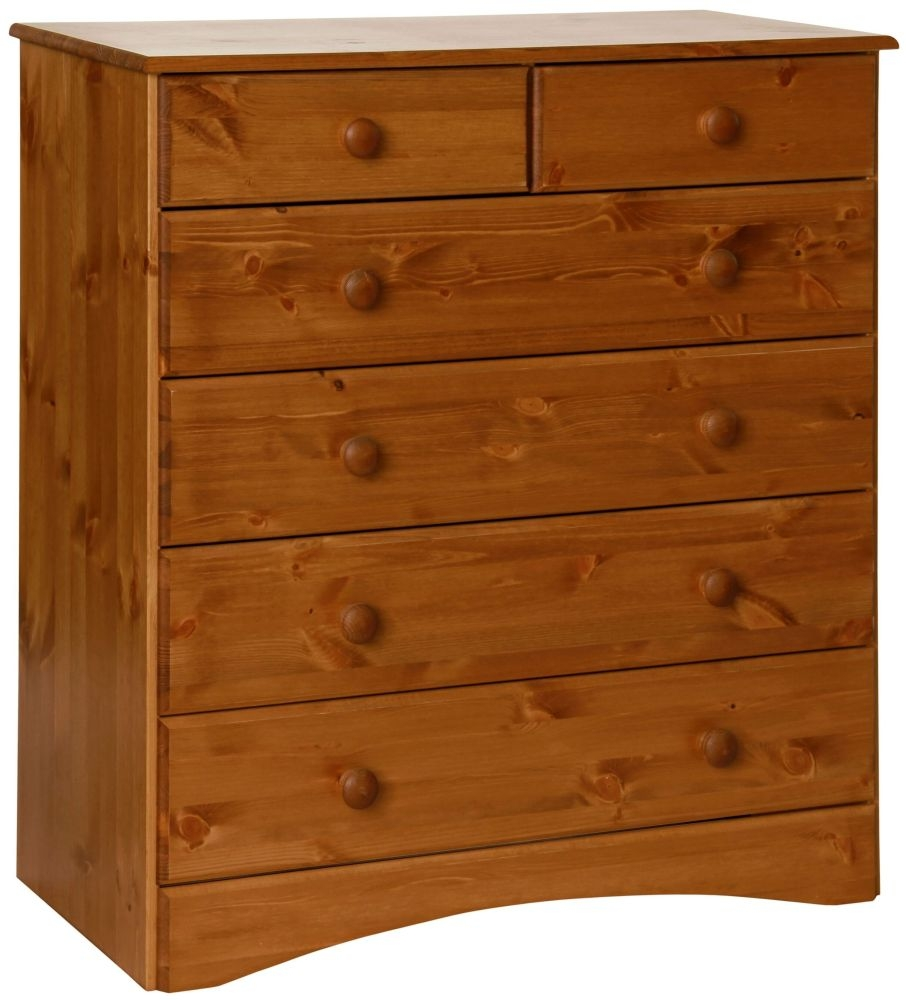 Scandi Solid Pine 2+4 Drawer Chest