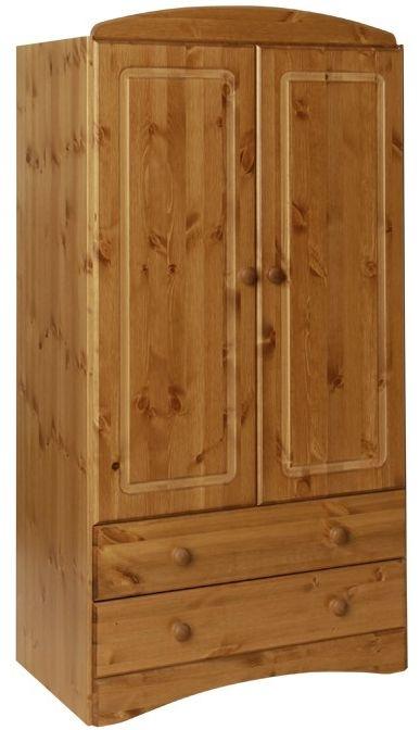 Scandi Pine Wardrobe - 2 Door 2 Drawer