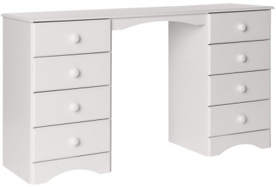 Scandi White Dressing Table - Double