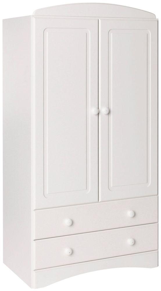 Scandi White 2 Door Combi Wardrobe