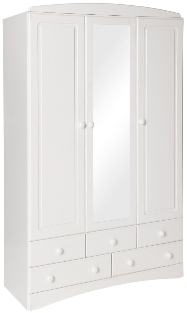 Scandi White 3 Door Mirror Wardrobe