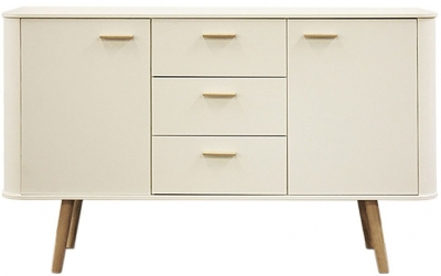 Scandinavian Style Sideboard with Oak Legs