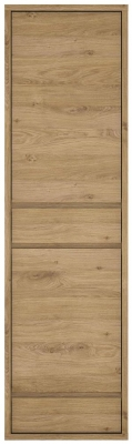 Shetland Oak Narrow Display Cabinet