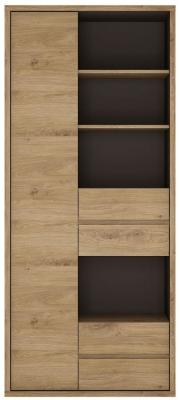 Shetland Oak Tall Wide Bookcase