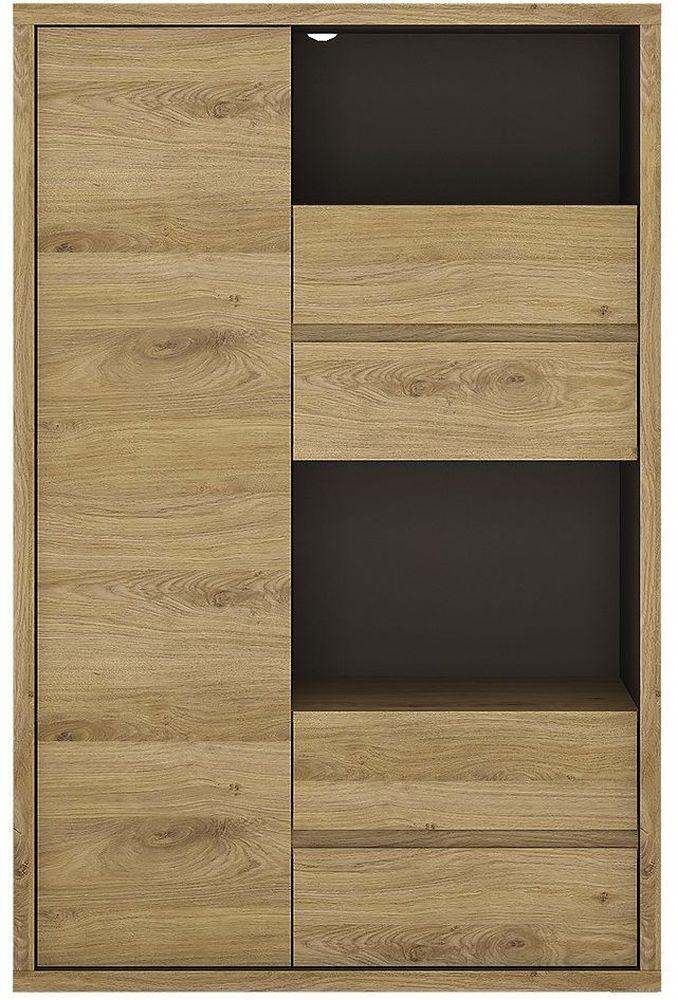 Shetland Display Cabinet - 1 Door 4 Drawer