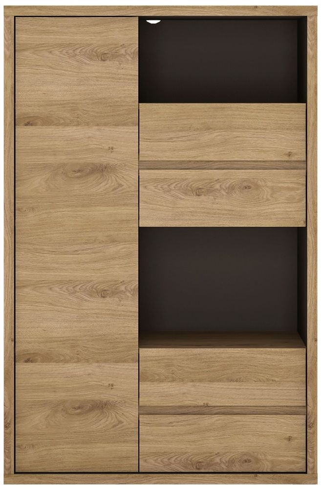 Shetland Oak Display Cabinet