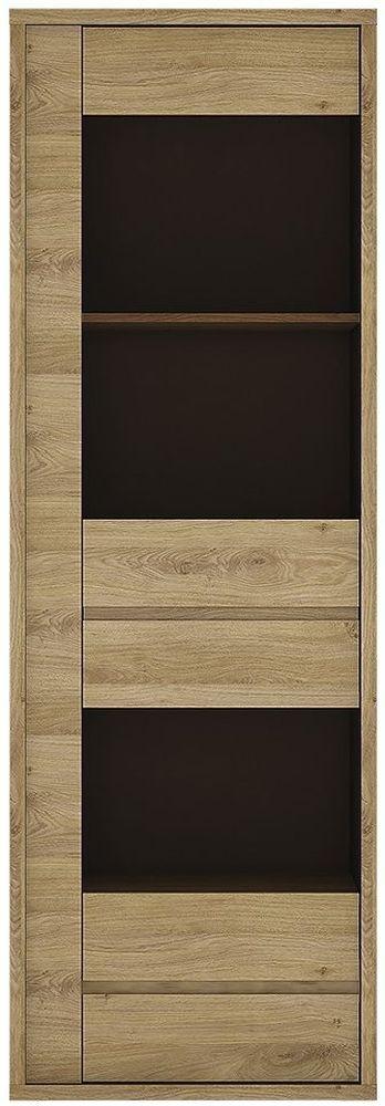 Shetland Glazed Display Cabinet - Narrow 1 Door 1 Drawer
