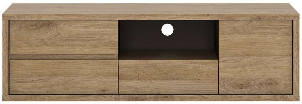 Shetland Oak Low TV Cabinet