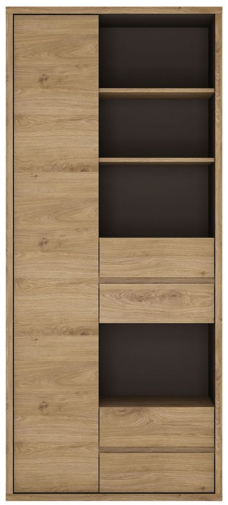 Shetland Oak Tall Wide Bookcase