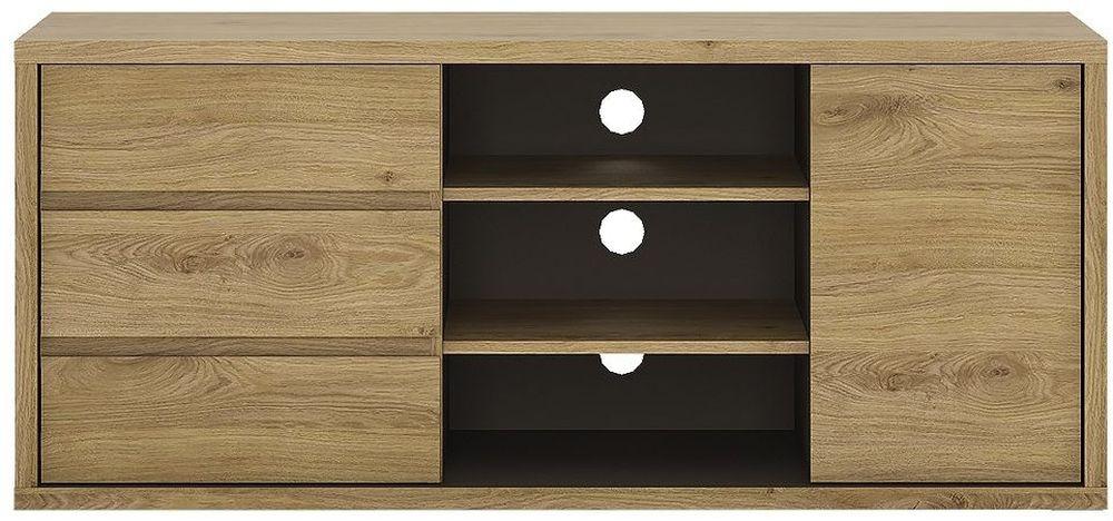 Shetland Tv Cabinet - 1 Door 3 Drawer