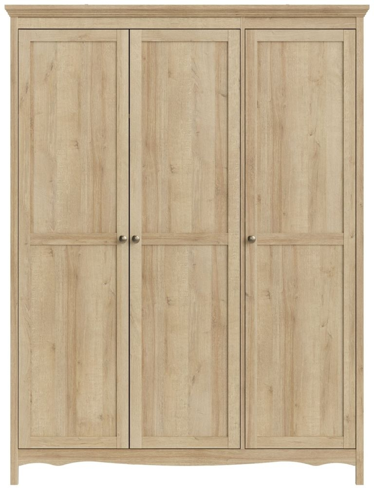Silkeborg Riviera Oak 3 Door Wardrobe