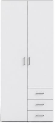 Space White 2 Door 3 Drawer Wardrobe