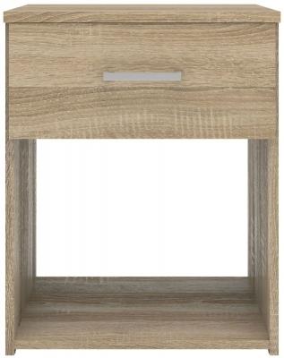 Space Oak Bedside Cabinet