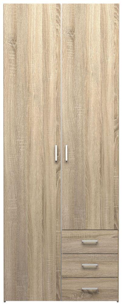 Space Oak 2 Door Wardrobe