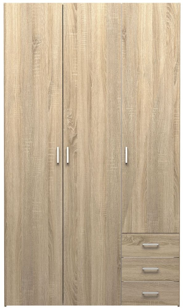 Space Oak 3 Door Wardrobe