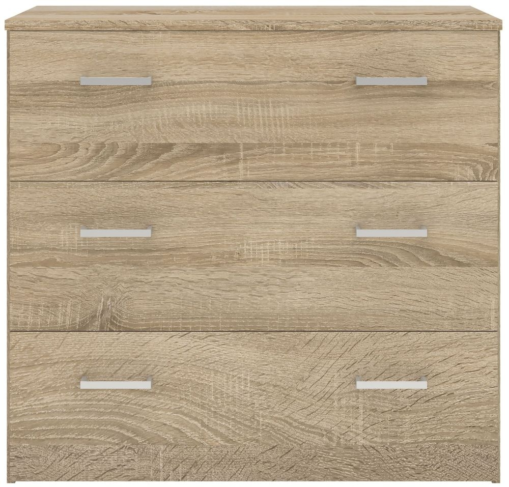 Space Oak 3 Drawer Chest